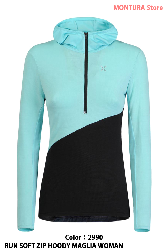 MONTURA RUN SOFT ZIP HOODY MAGLIA WOMAN (MMZR89W)